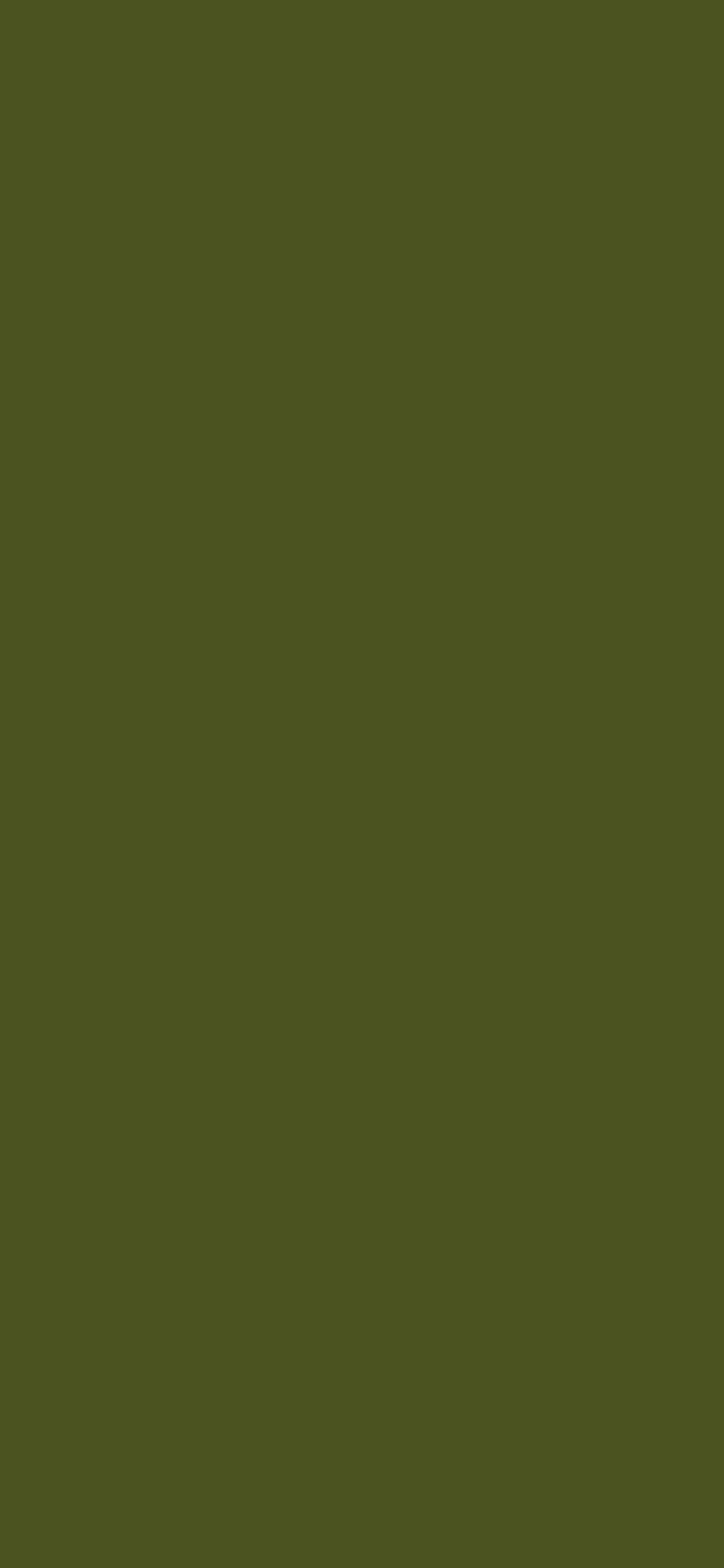 1125x2436 Army Green Solid Color Background