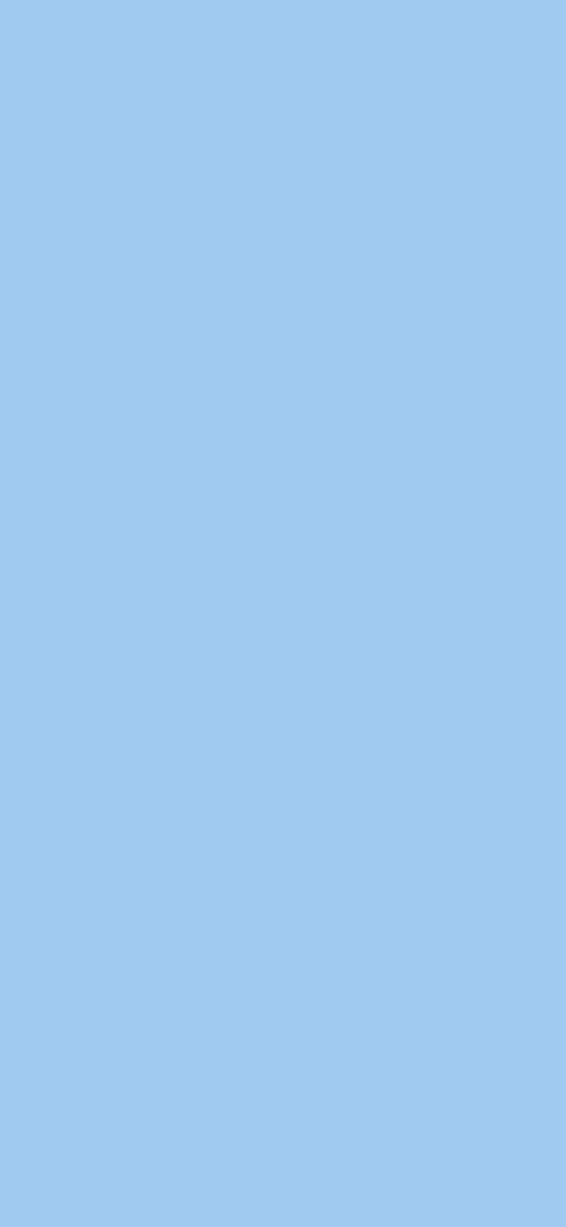 1125x2436 Baby Blue Eyes Solid Color Background
