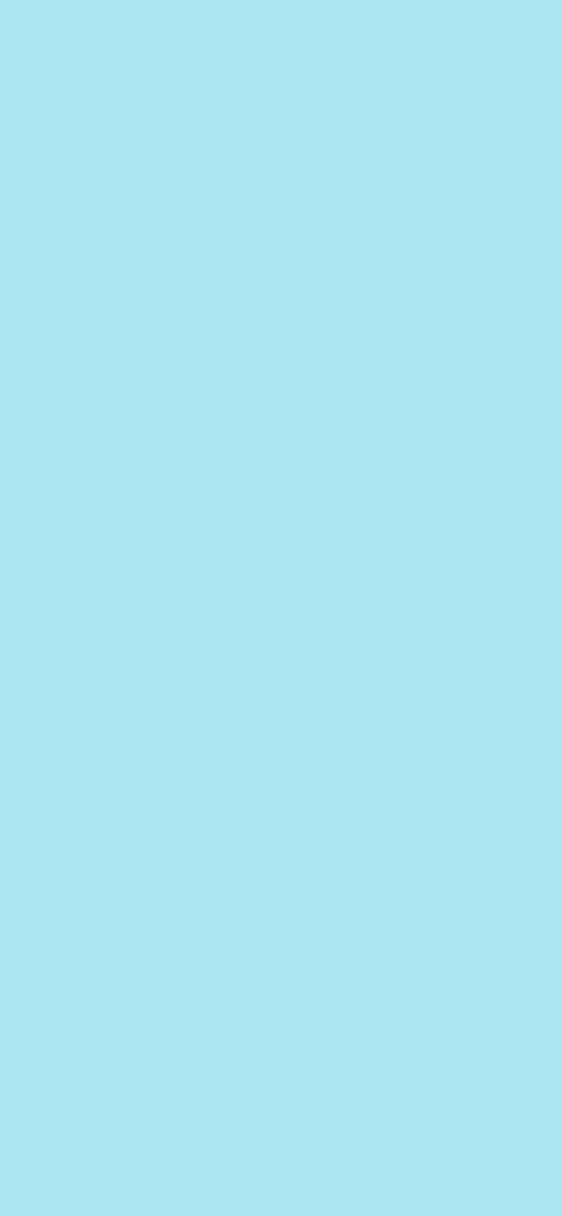 1125x2436 Blizzard Blue Solid Color Background