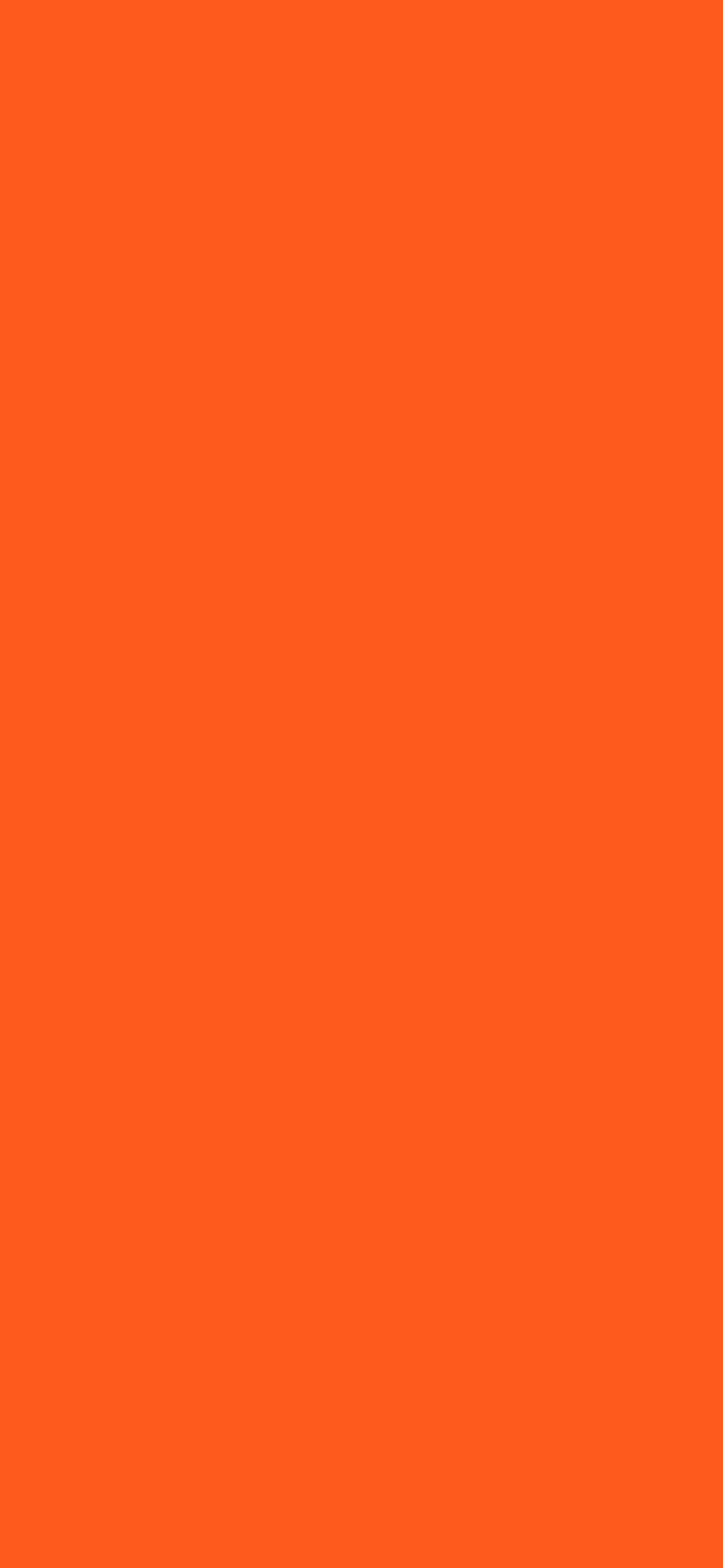 1125x2436 Giants Orange Solid Color Background