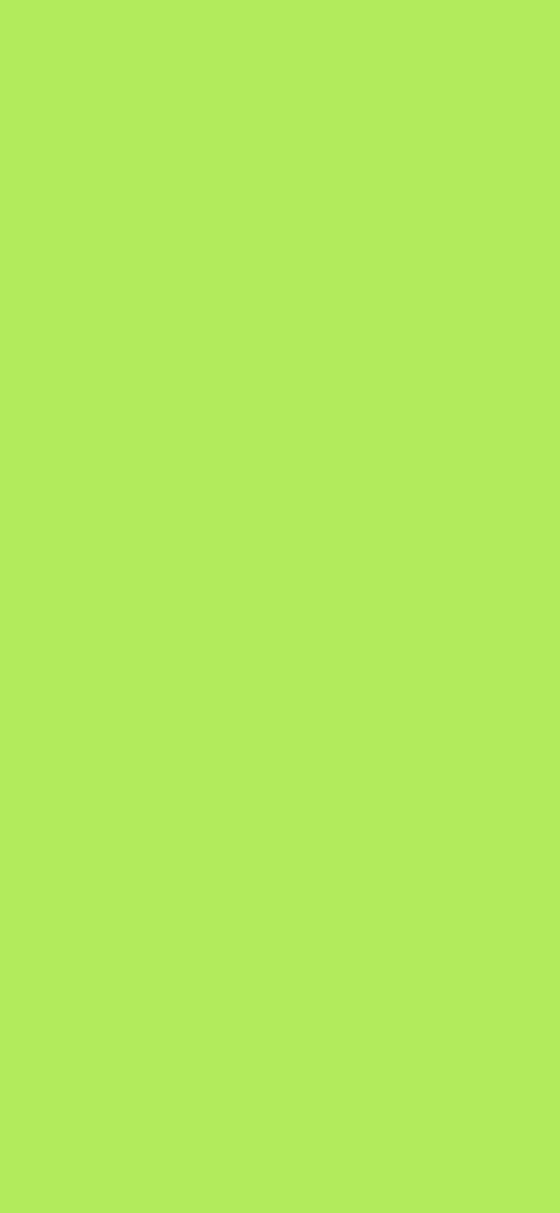 1125x2436 Inchworm Solid Color Background