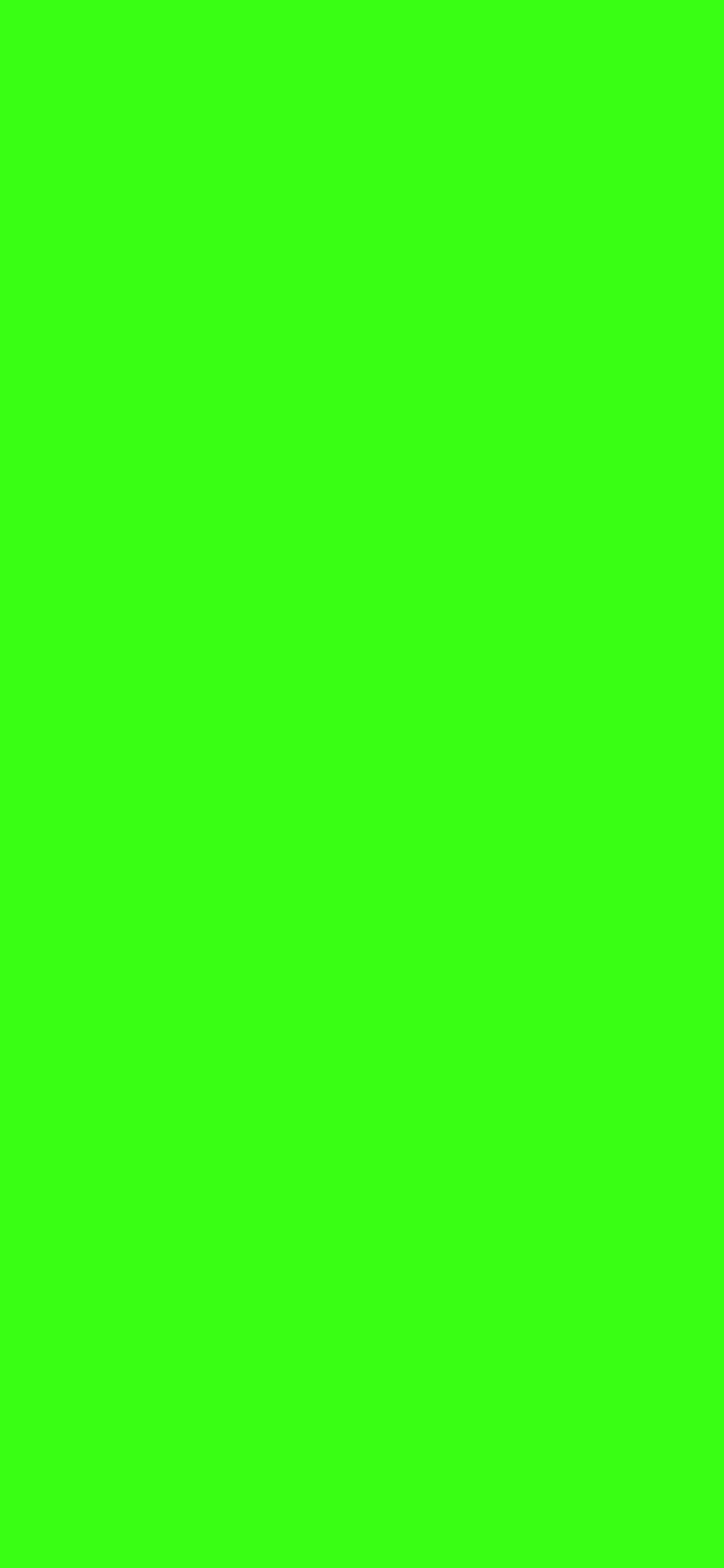 1125x2436 Neon Green Solid Color Background