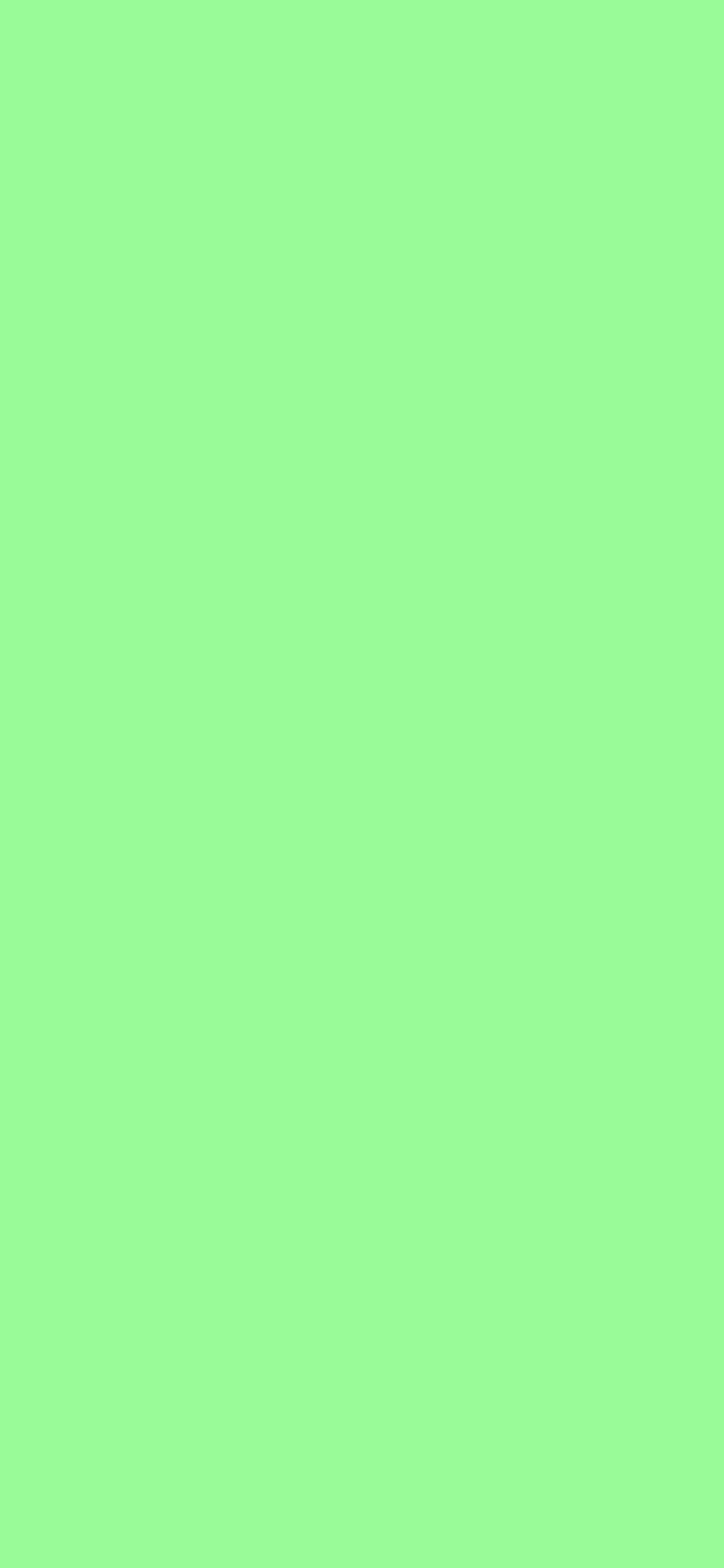 1125x2436 Pale Green Solid Color Background