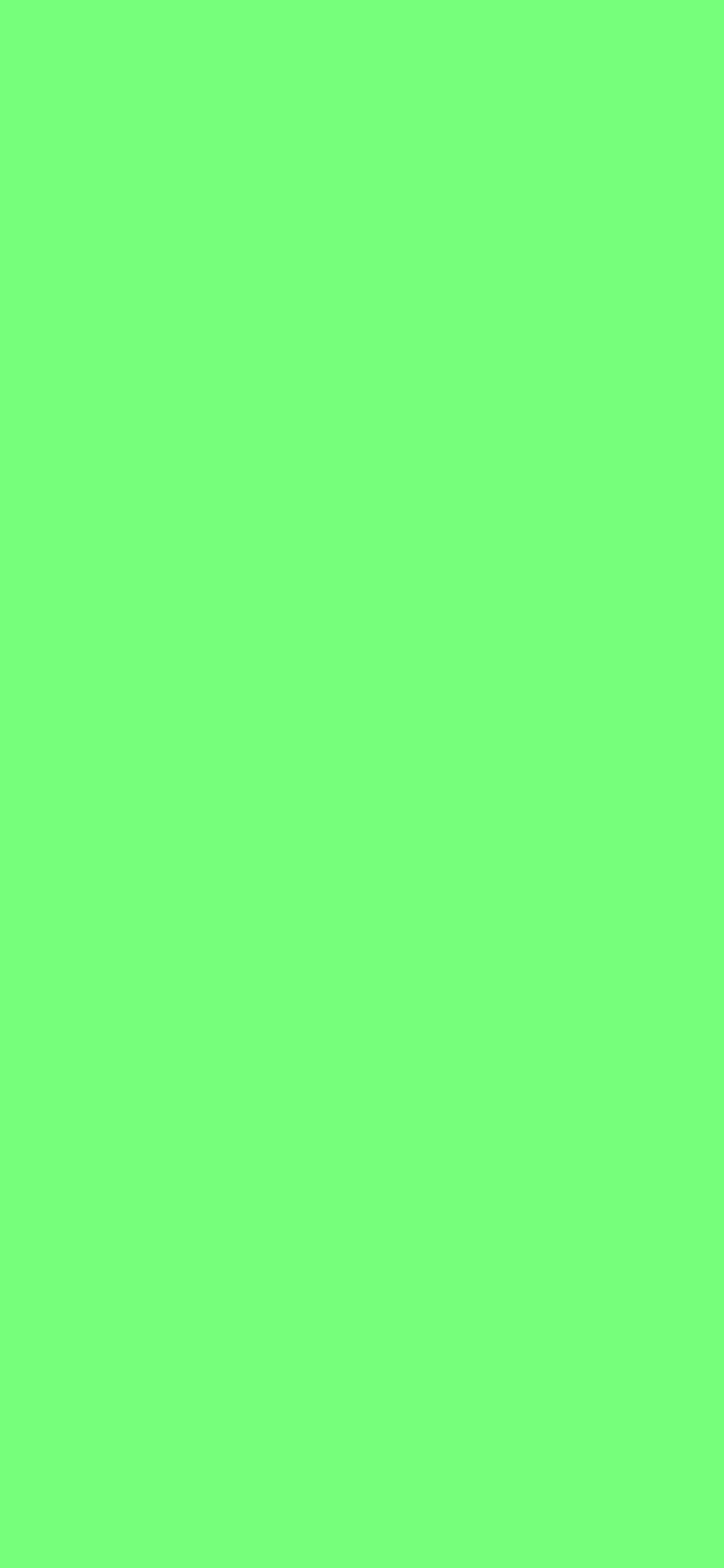 1125x2436 Screamin Green Solid Color Background