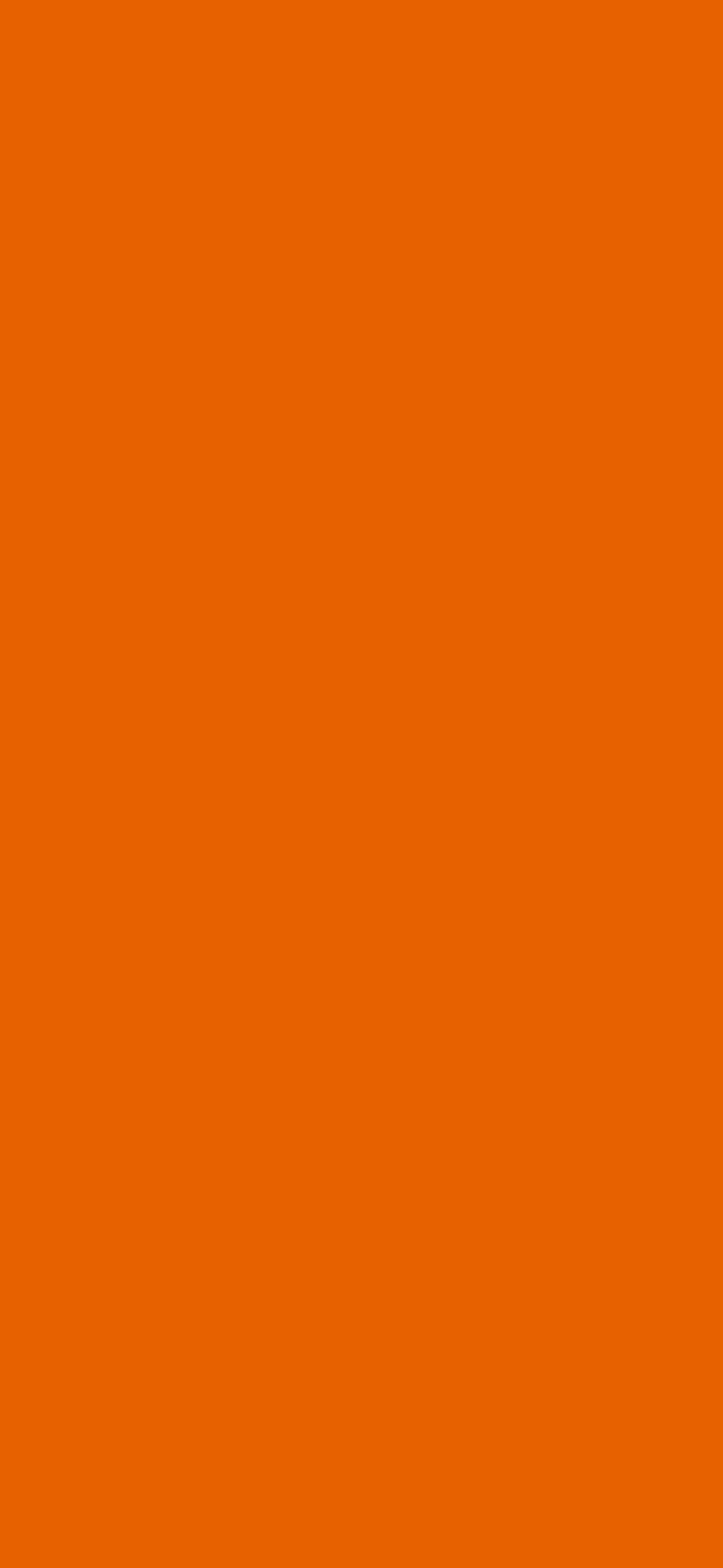 1125x2436 Spanish Orange Solid Color Background