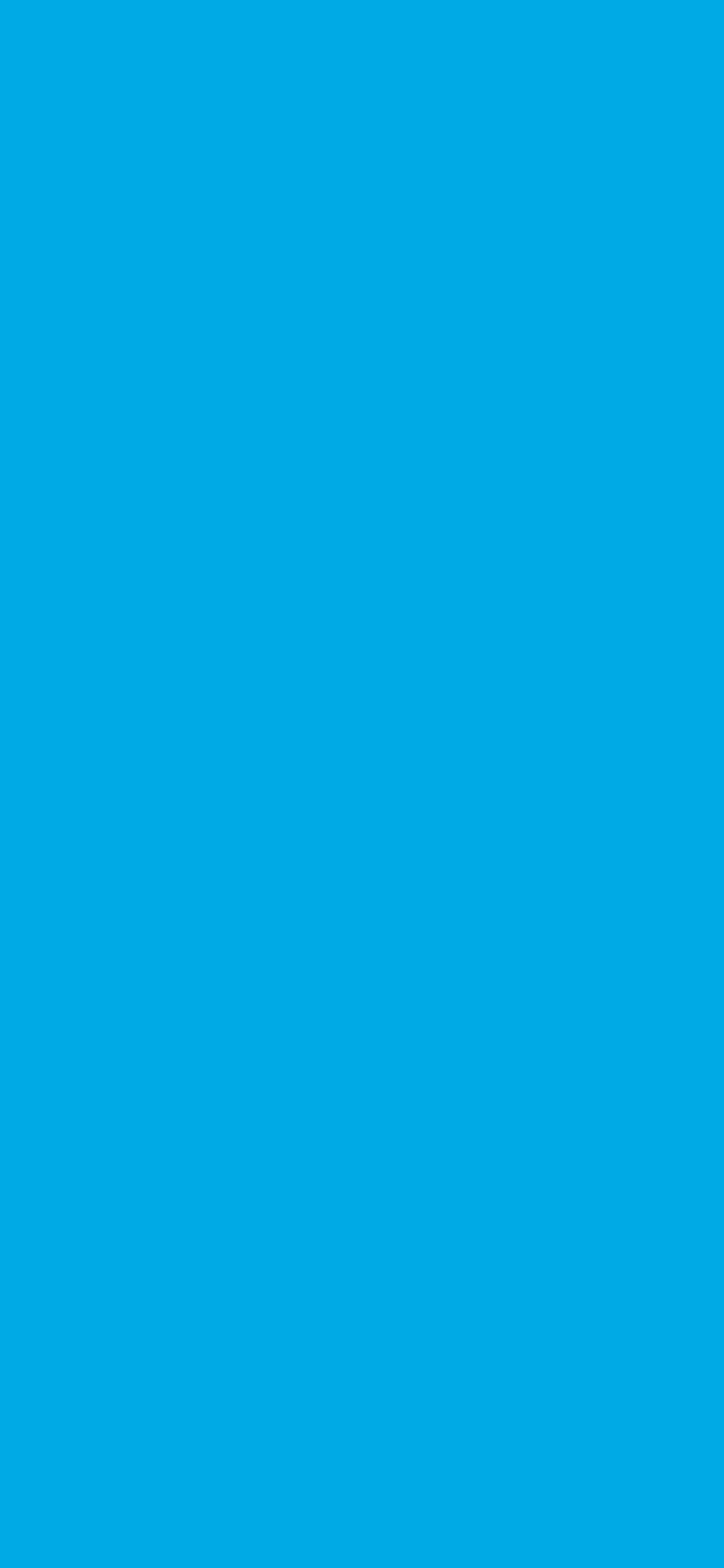 1125x2436 Spanish Sky Blue Solid Color Background