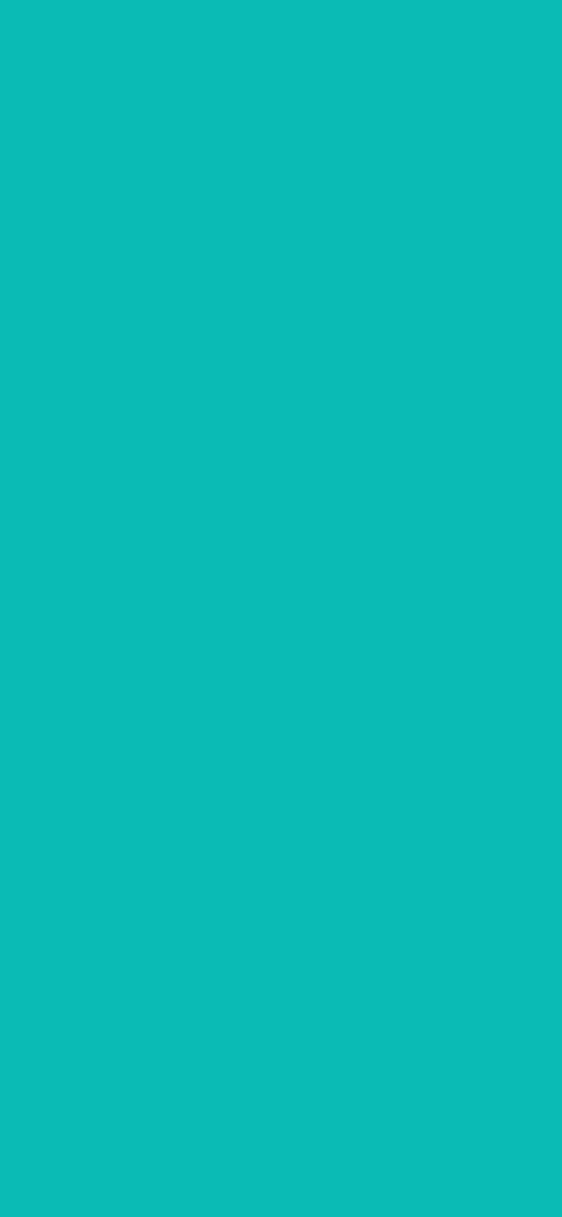 1125x2436 Tiffany Blue Solid Color Background