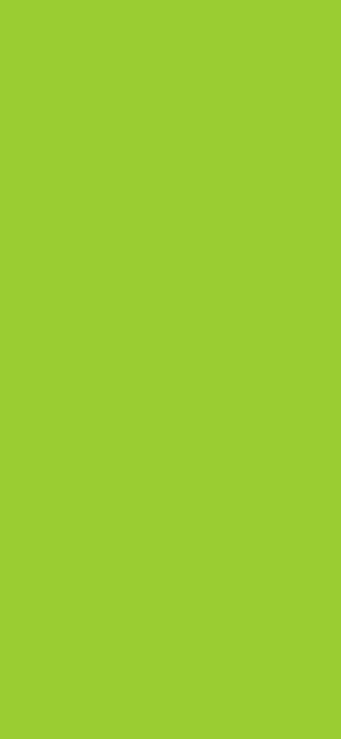 1125x2436 Yellow-green Solid Color Background
