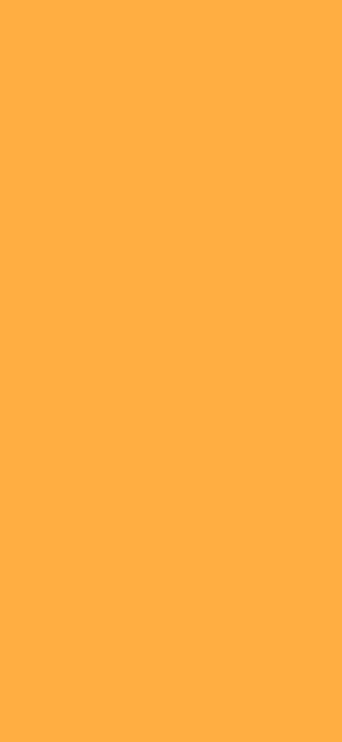 1125x2436 Yellow Orange Solid Color Background