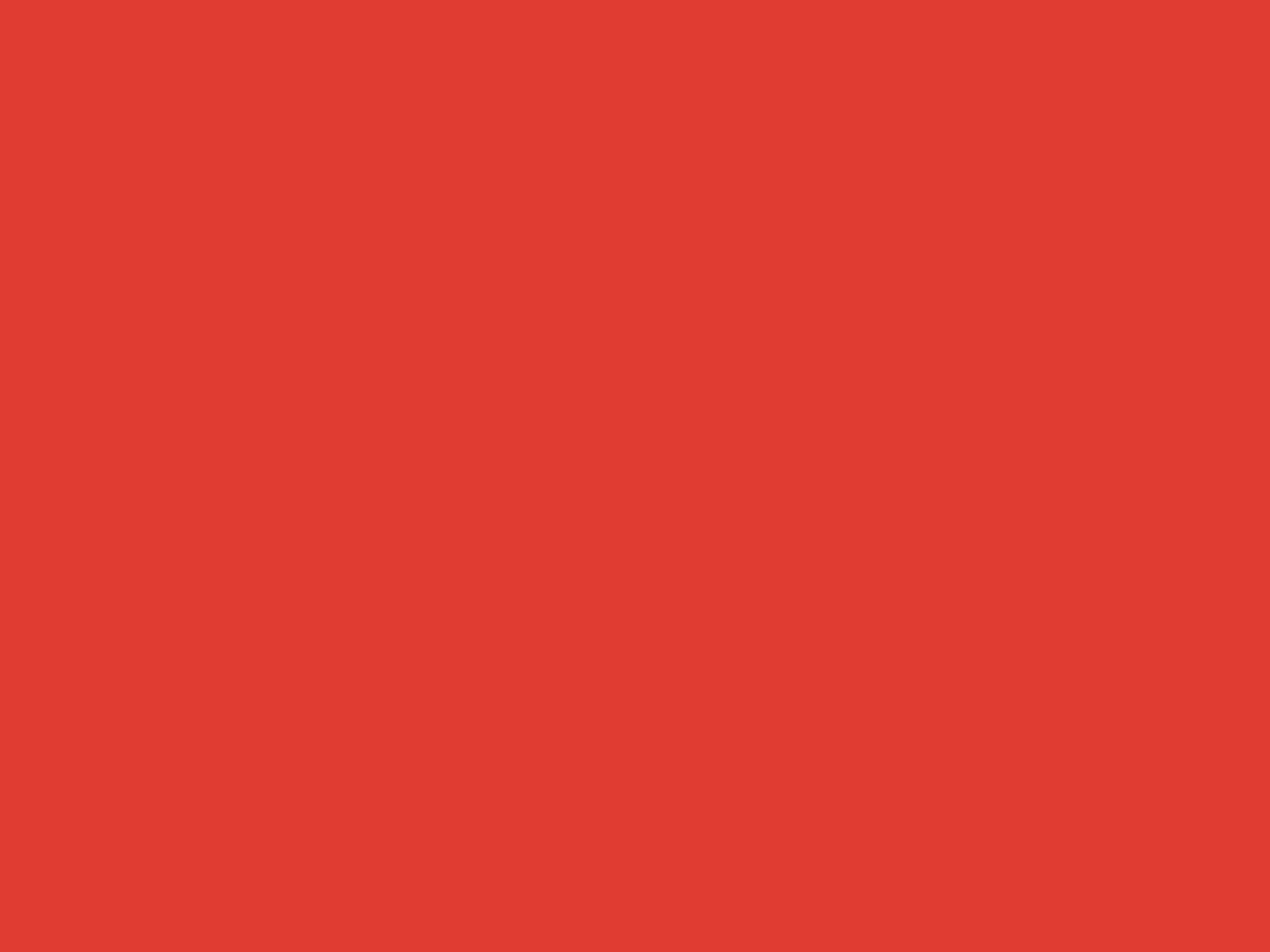 1152x864 CG Red Solid Color Background