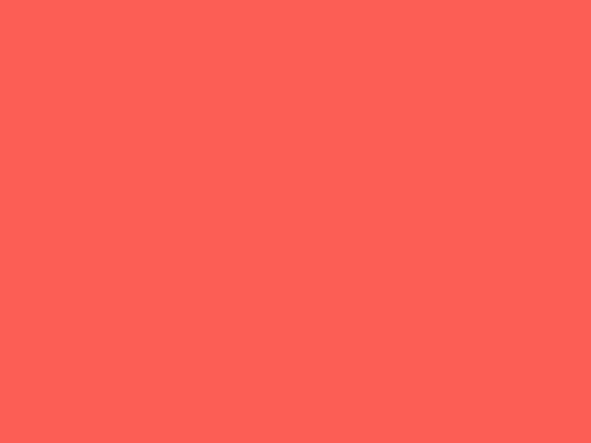 1152x864 Sunset Orange Solid Color Background