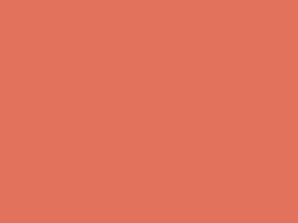 1152x864 Terra Cotta Solid Color Background