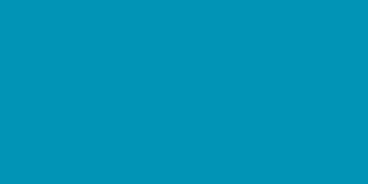 1200x600 Bondi Blue Solid Color Background