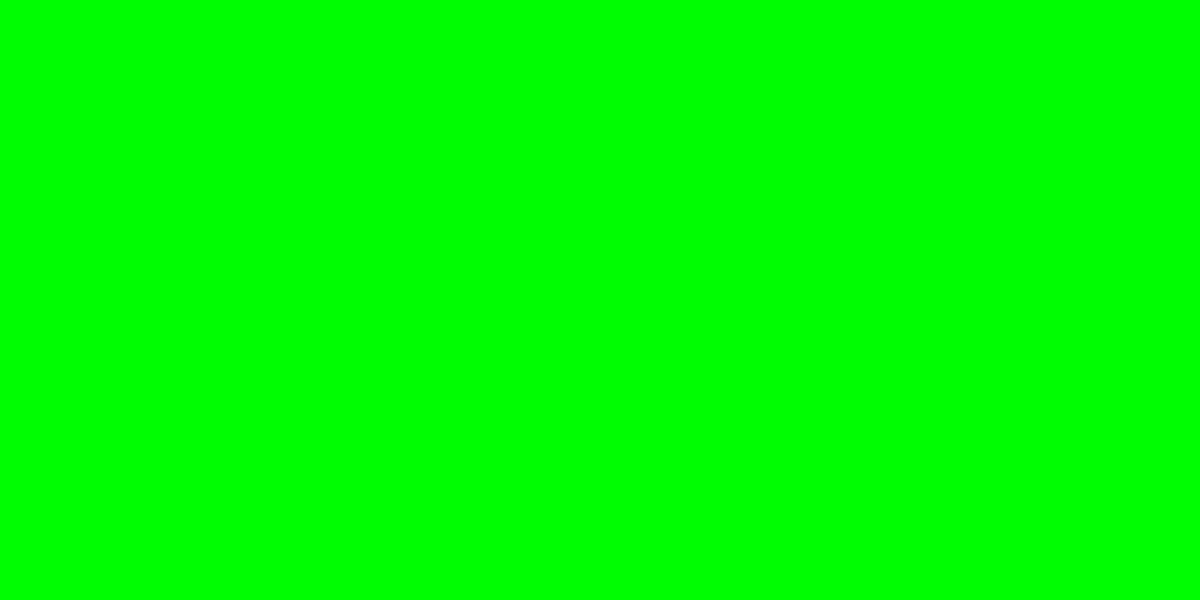 1200x600 Electric Green Solid Color Background