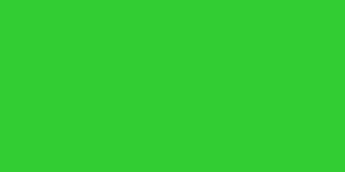 1200x600 Lime Green Solid Color Background