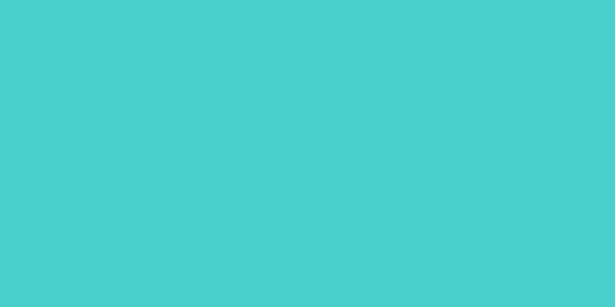 1200x600 Medium Turquoise Solid Color Background