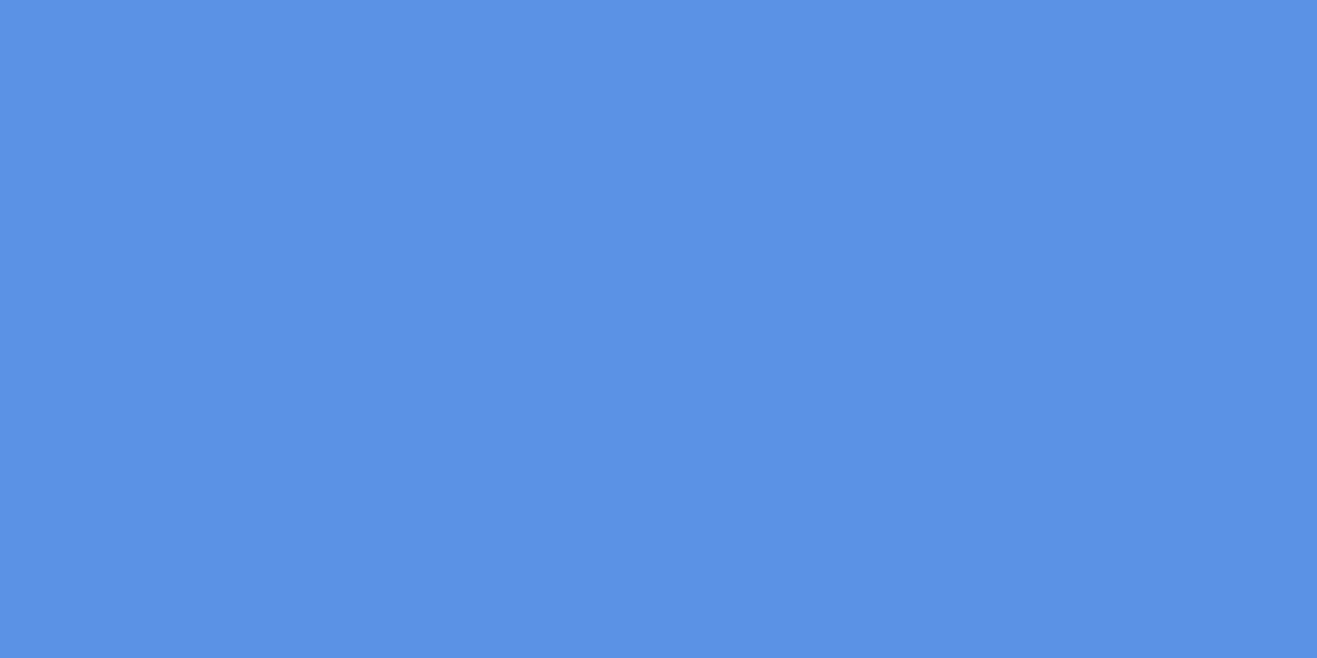 1200x600 United Nations Blue Solid Color Background