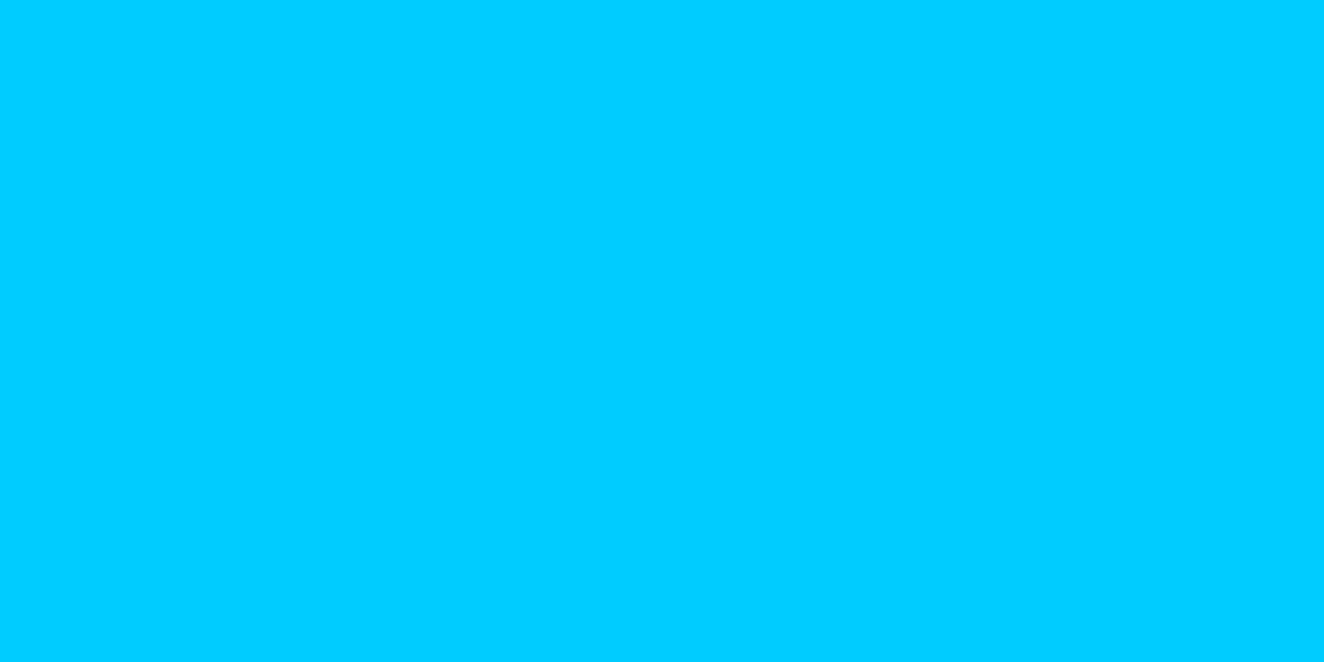 1200x600 Vivid Sky Blue Solid Color Background