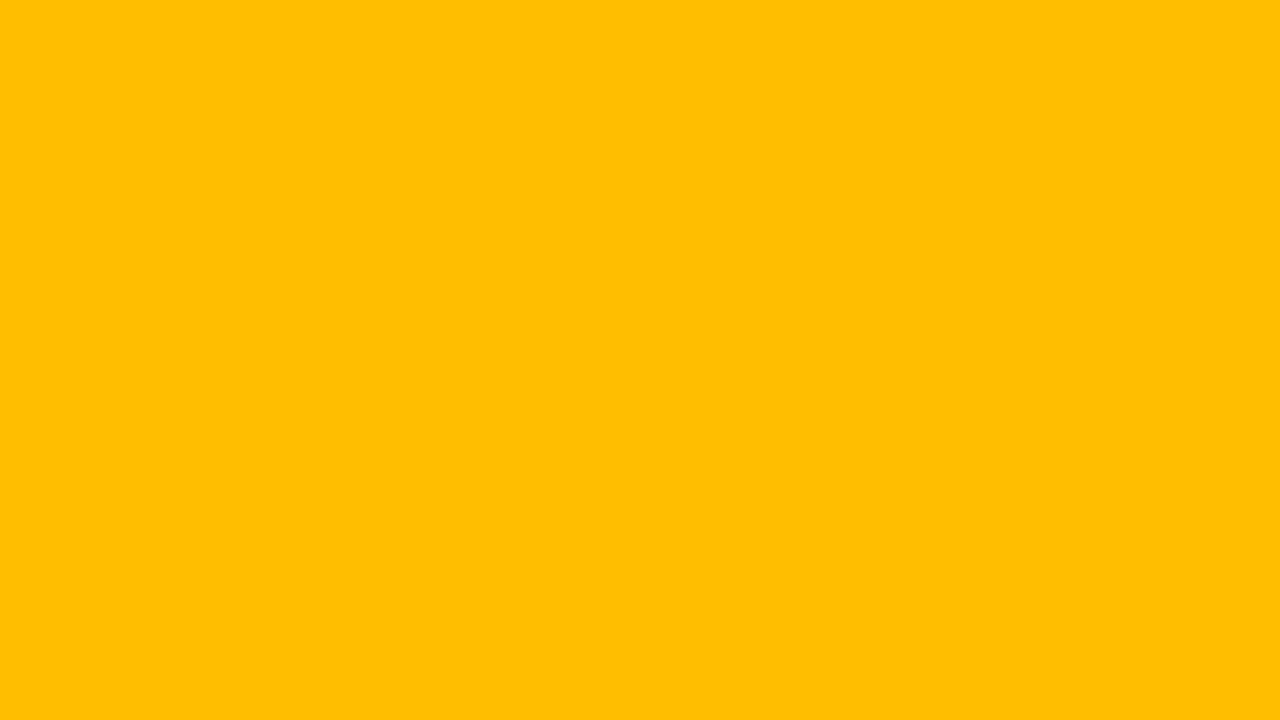 1280x720 Amber Solid Color Background