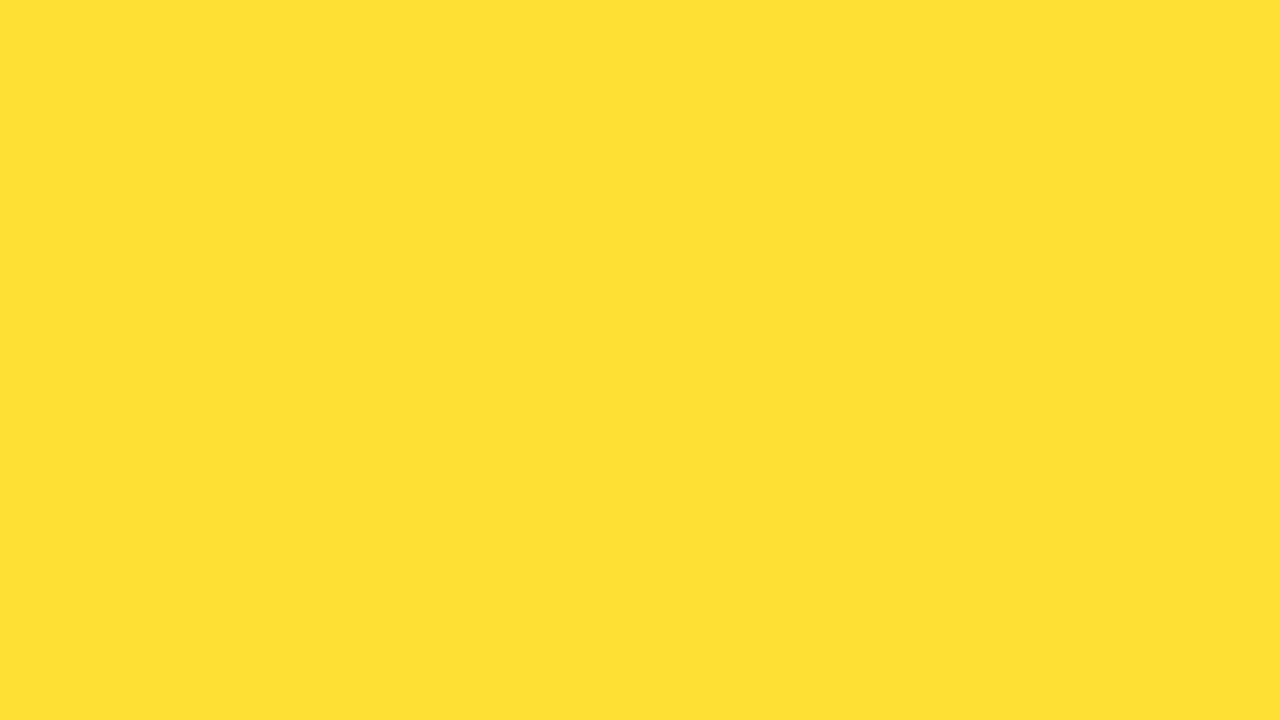 1280x720 Banana Yellow Solid Color Background