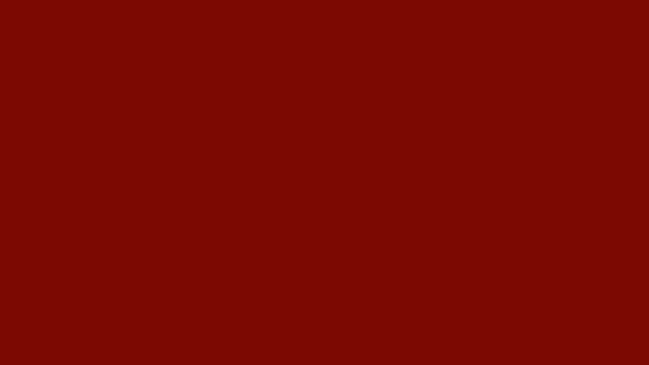 1280x720 Barn Red Solid Color Background