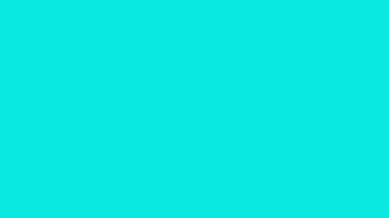 1280x720 Bright Turquoise Solid Color Background