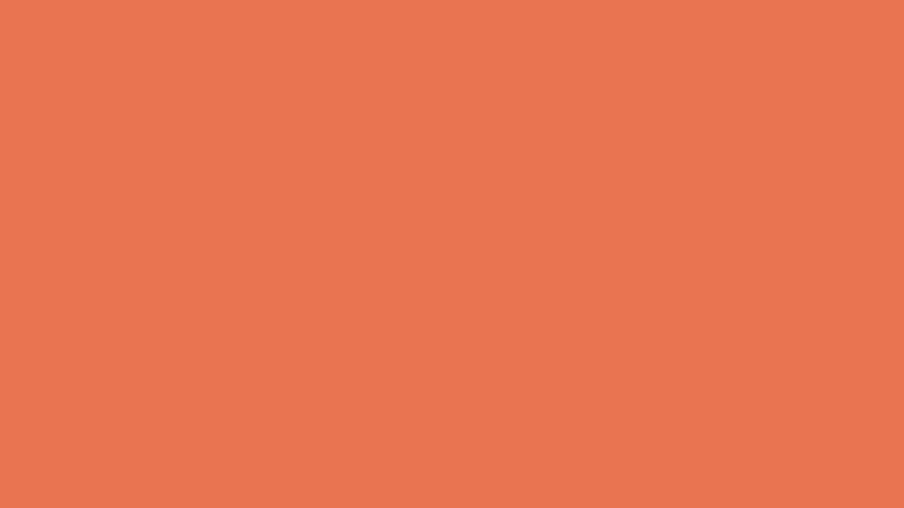 1280x720 Burnt Sienna Solid Color Background