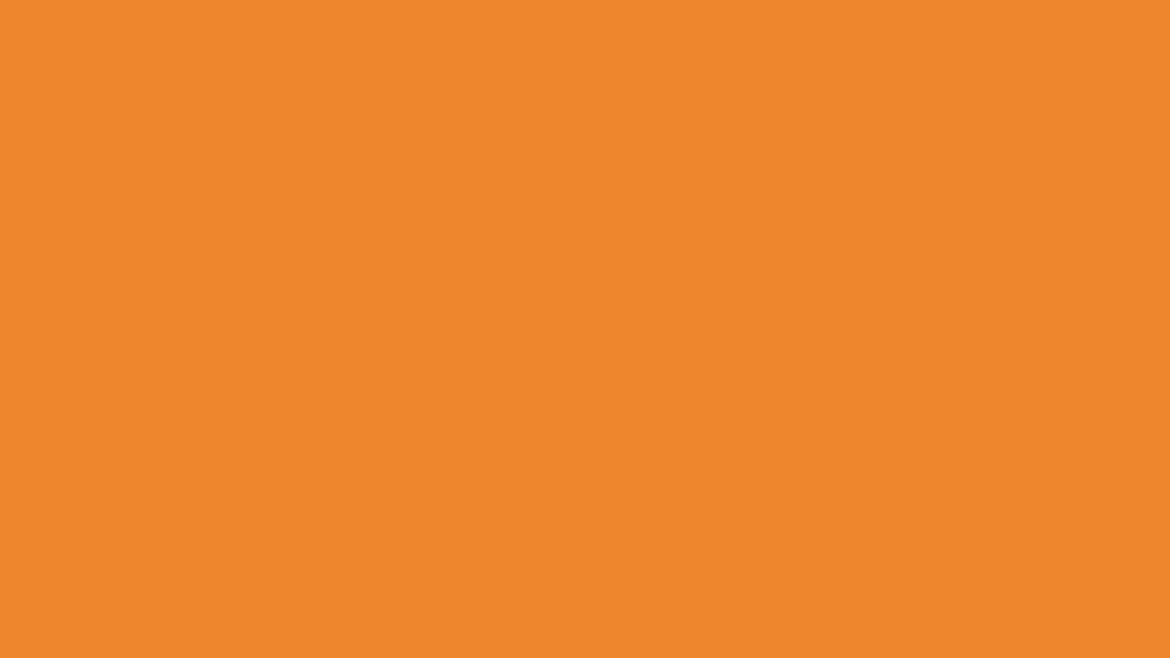 1280x720 Cadmium Orange Solid Color Background