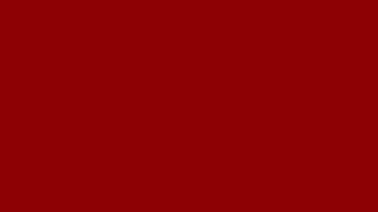 1280x720 dark red solid color background