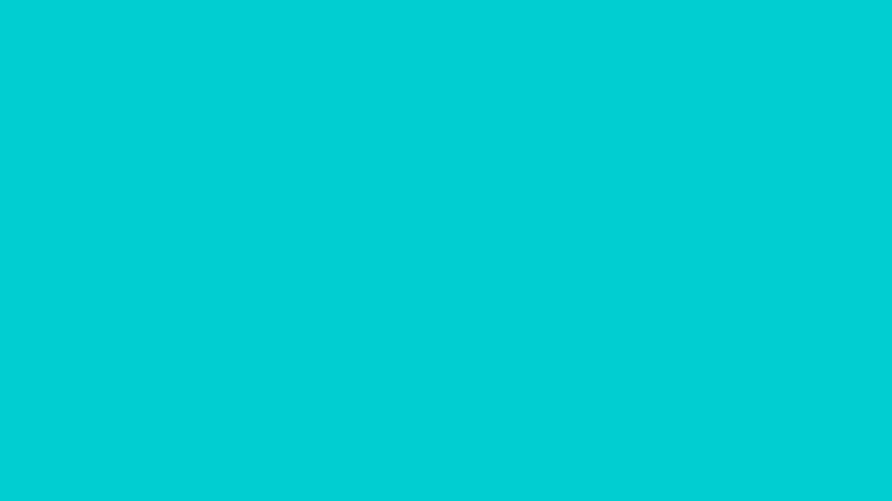 1280x720 Dark Turquoise Solid Color Background