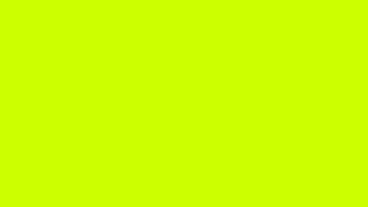 1280x720 Electric Lime Solid Color Background