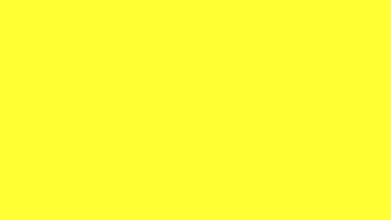 1280x720 Electric Yellow Solid Color Background
