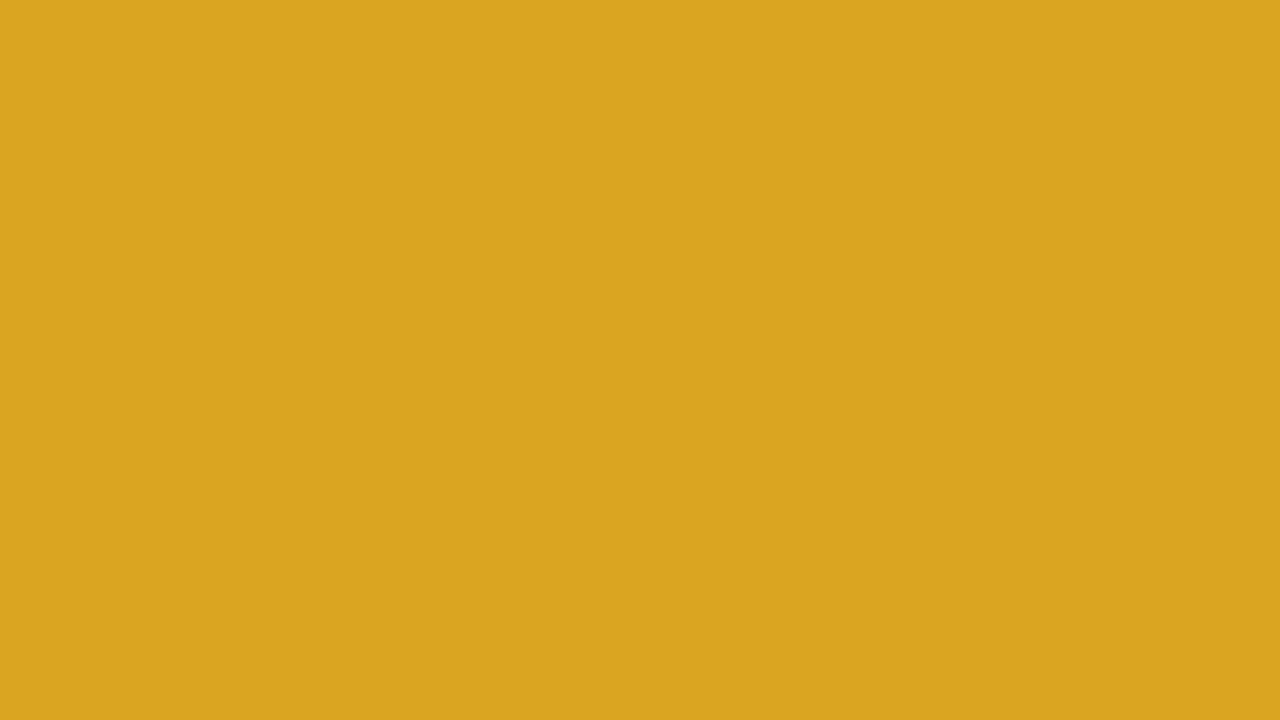 1280x720 Goldenrod Solid Color Background
