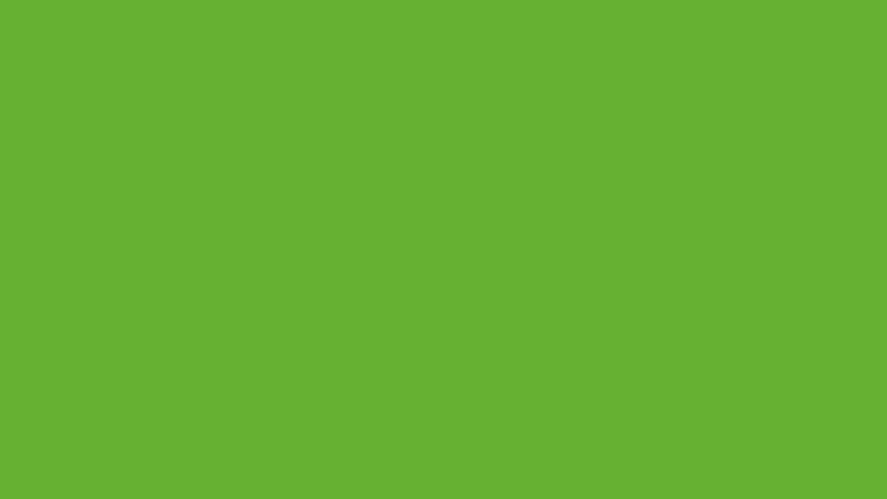 1280x720 Green RYB Solid Color Background