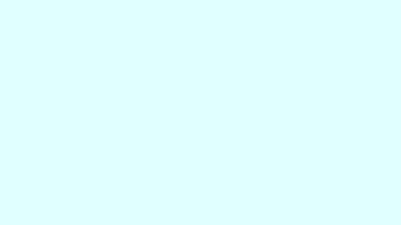 1280x720 Light Cyan Solid Color Background