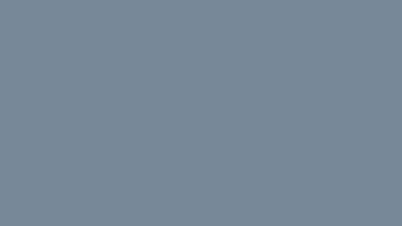1280x720 Light Slate Gray Solid Color Background