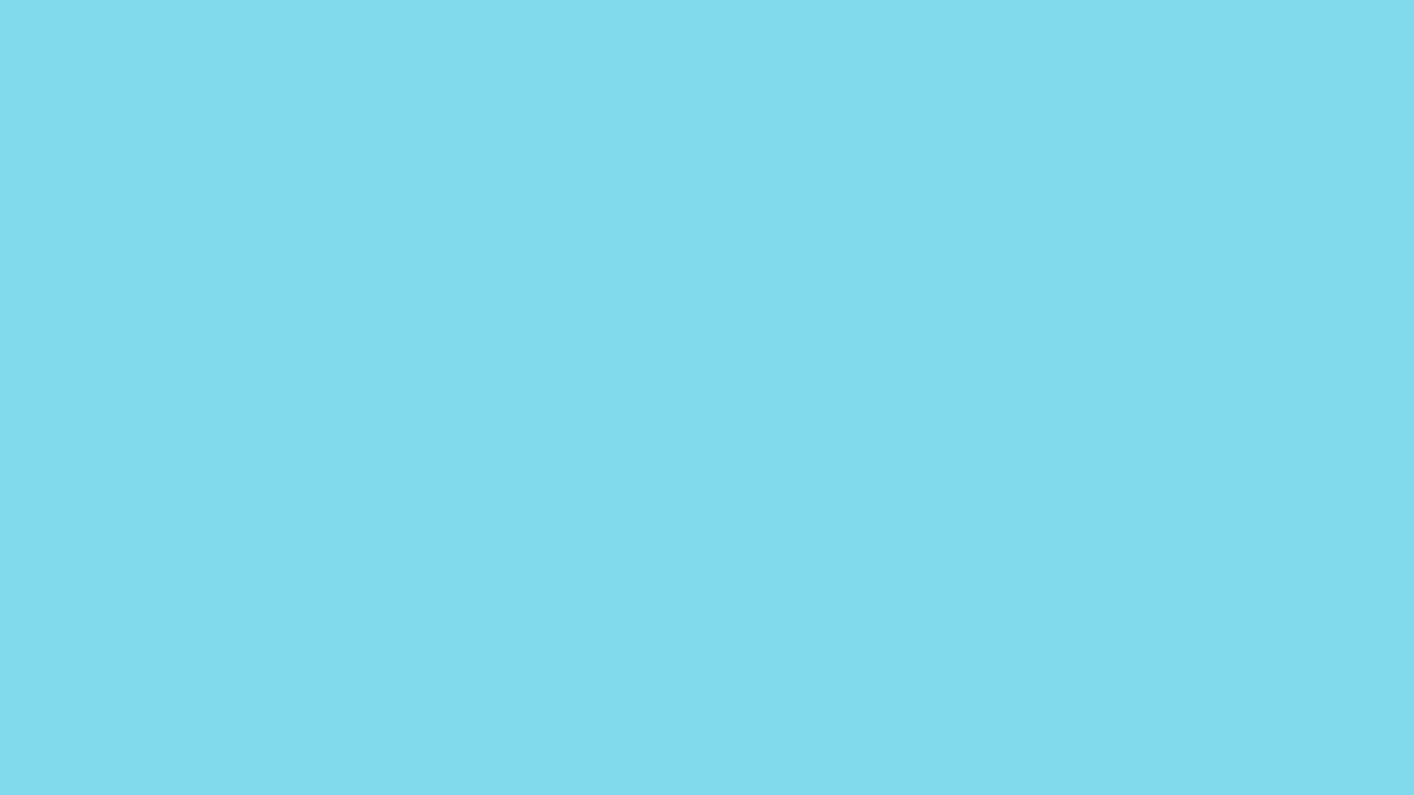 1280x720 Medium Sky Blue Solid Color Background