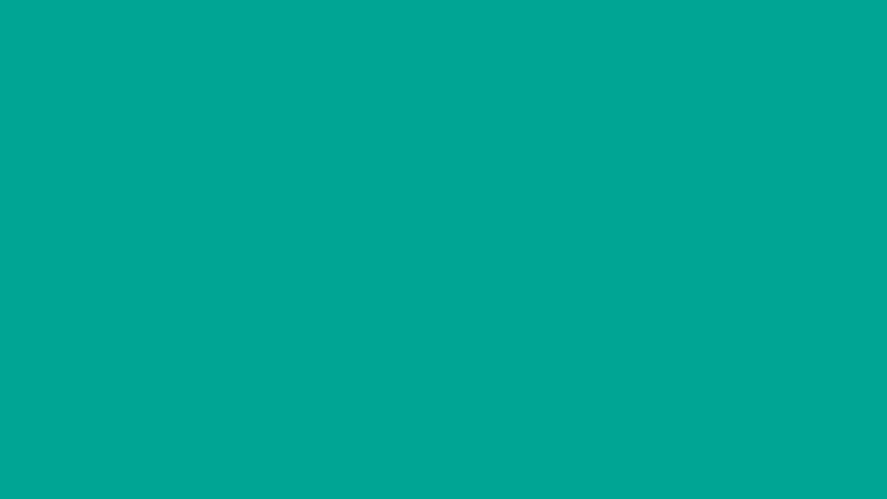 1280x720 Persian Green Solid Color Background