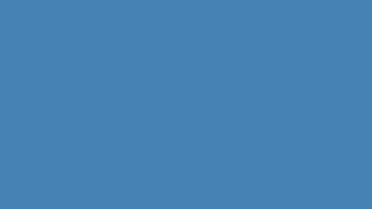 1280x720 Steel Blue Solid Color Background