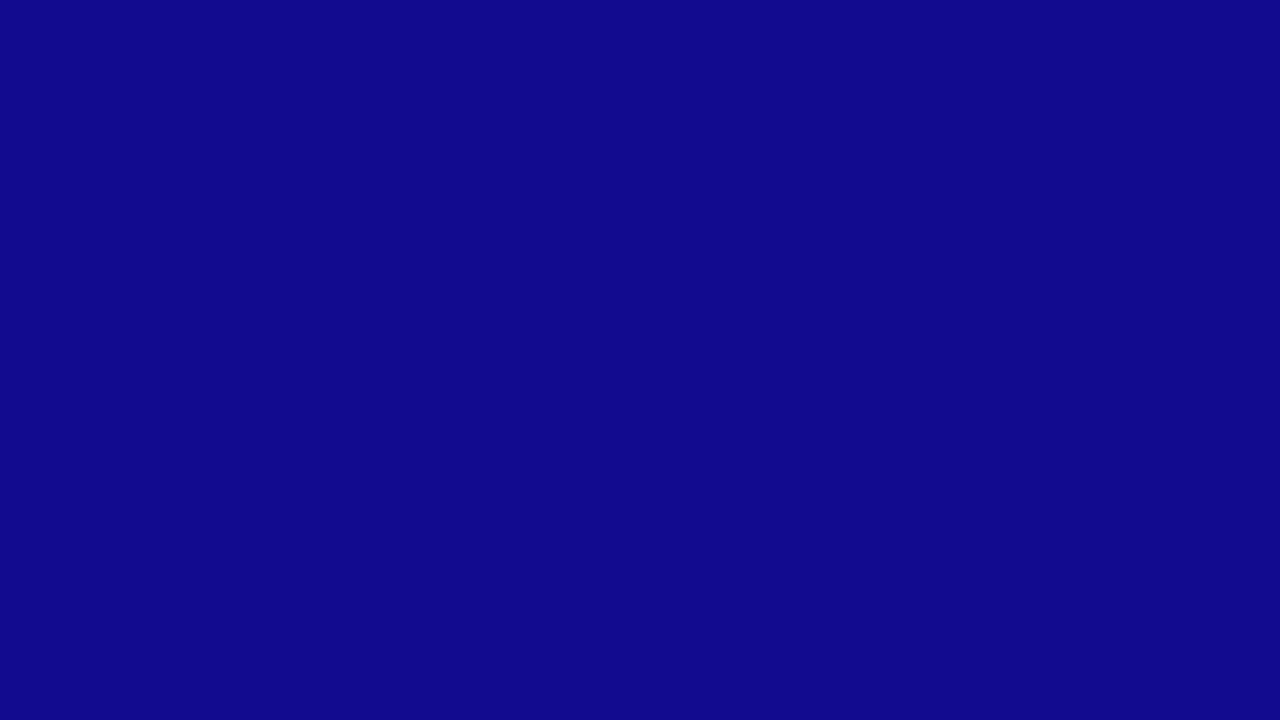 1280x720 Ultramarine Solid Color Background