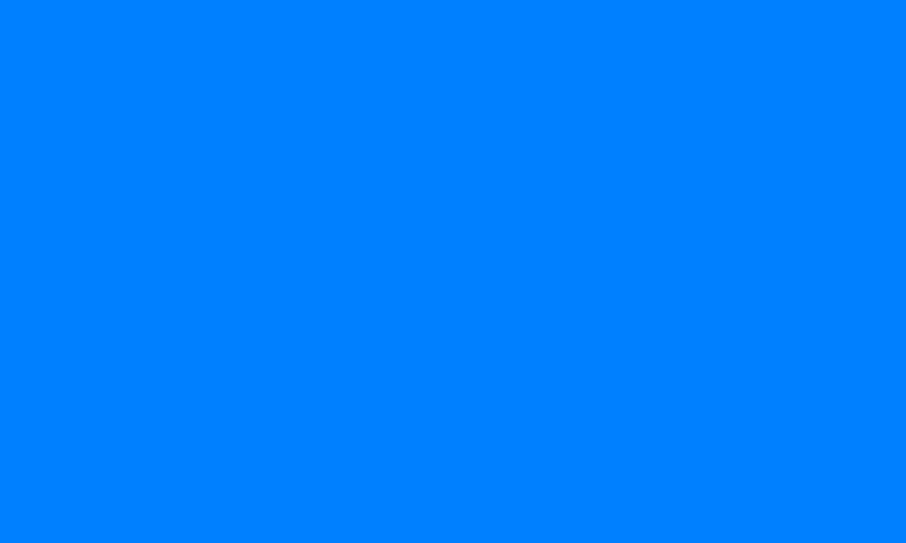 1280x768 Azure Solid Color Background
