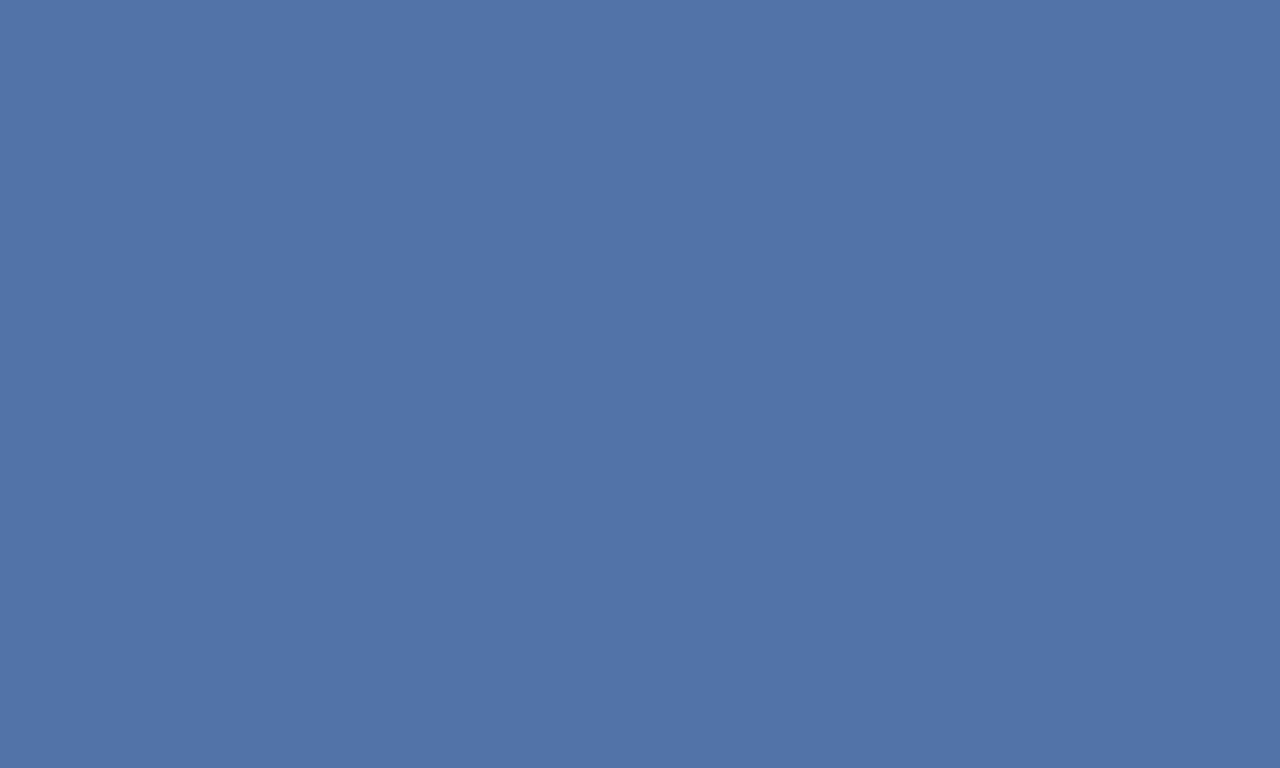 1280x768 Blue Yonder Solid Color Background