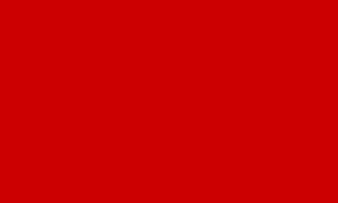 1280x768 Boston University Red Solid Color Background