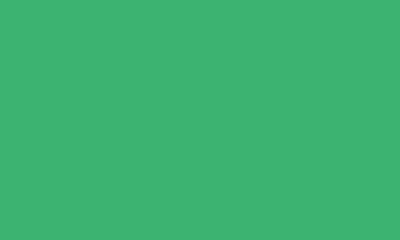1280x768 Medium Sea Green Solid Color Background