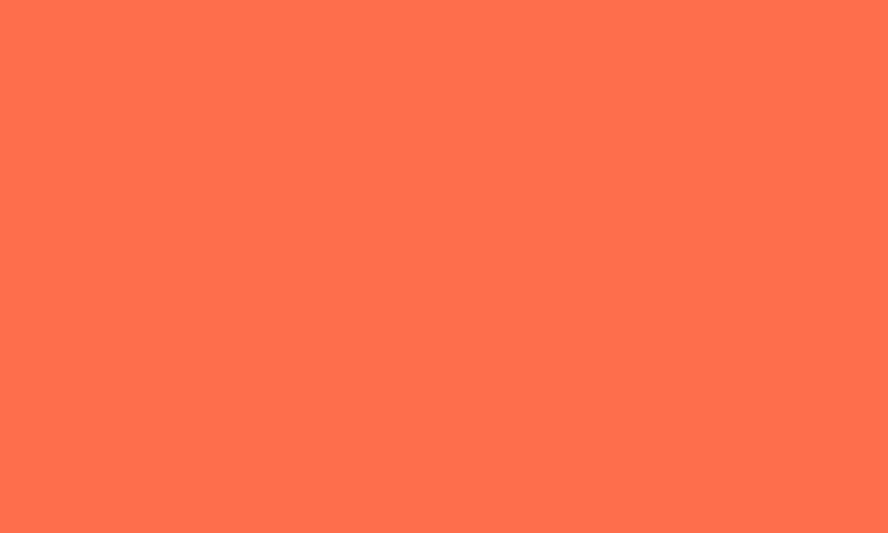 1280x768 Outrageous Orange Solid Color Background