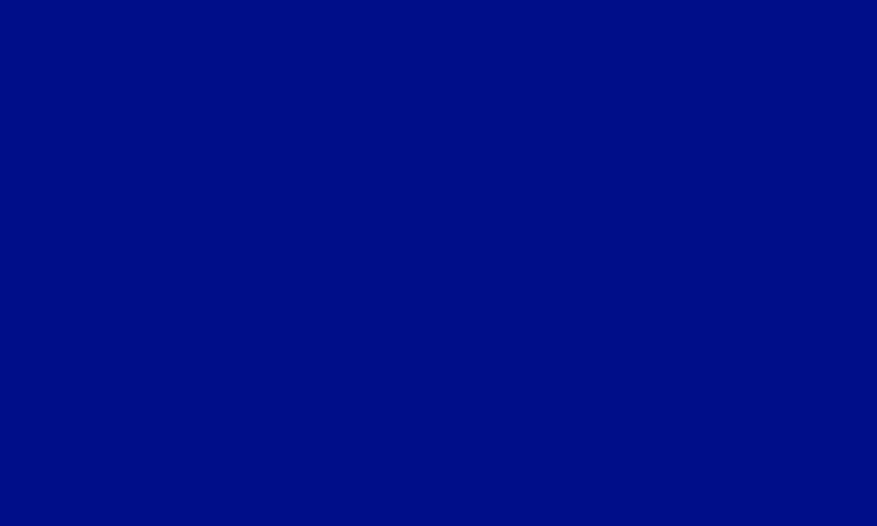 1280x768 Phthalo Blue Solid Color Background