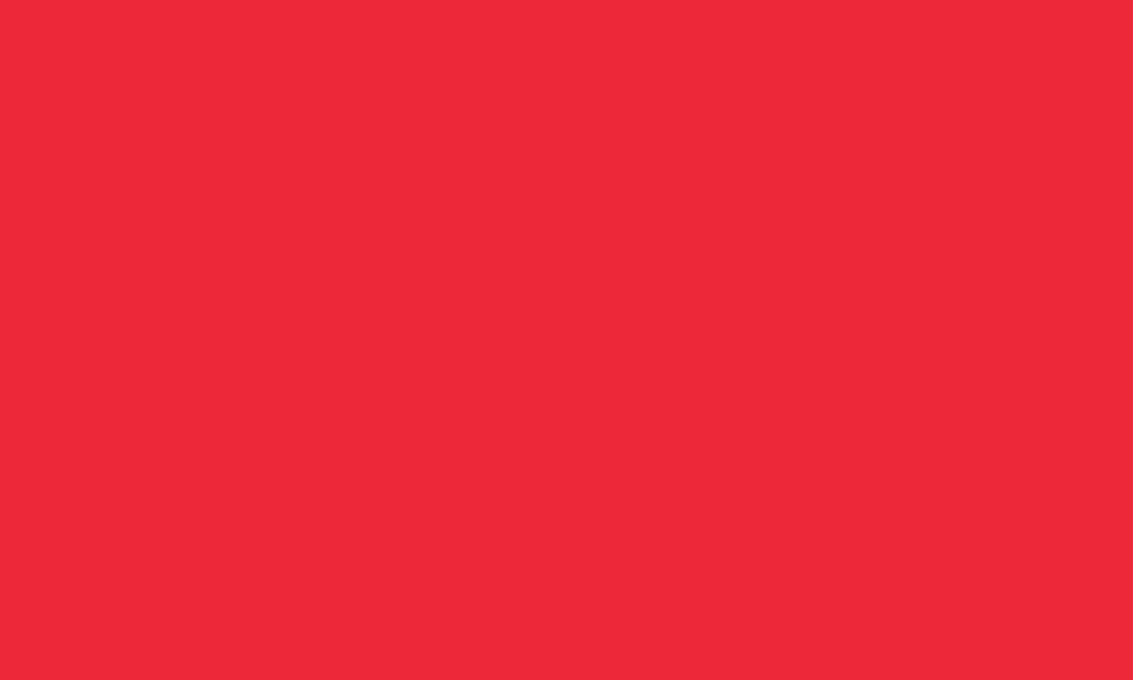 1280x768 Red Pantone Solid Color Background