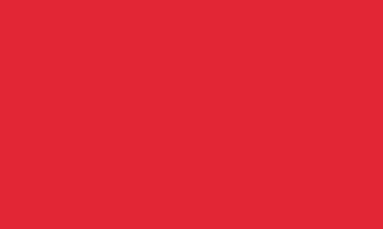 1280x768 Rose Madder Solid Color Background