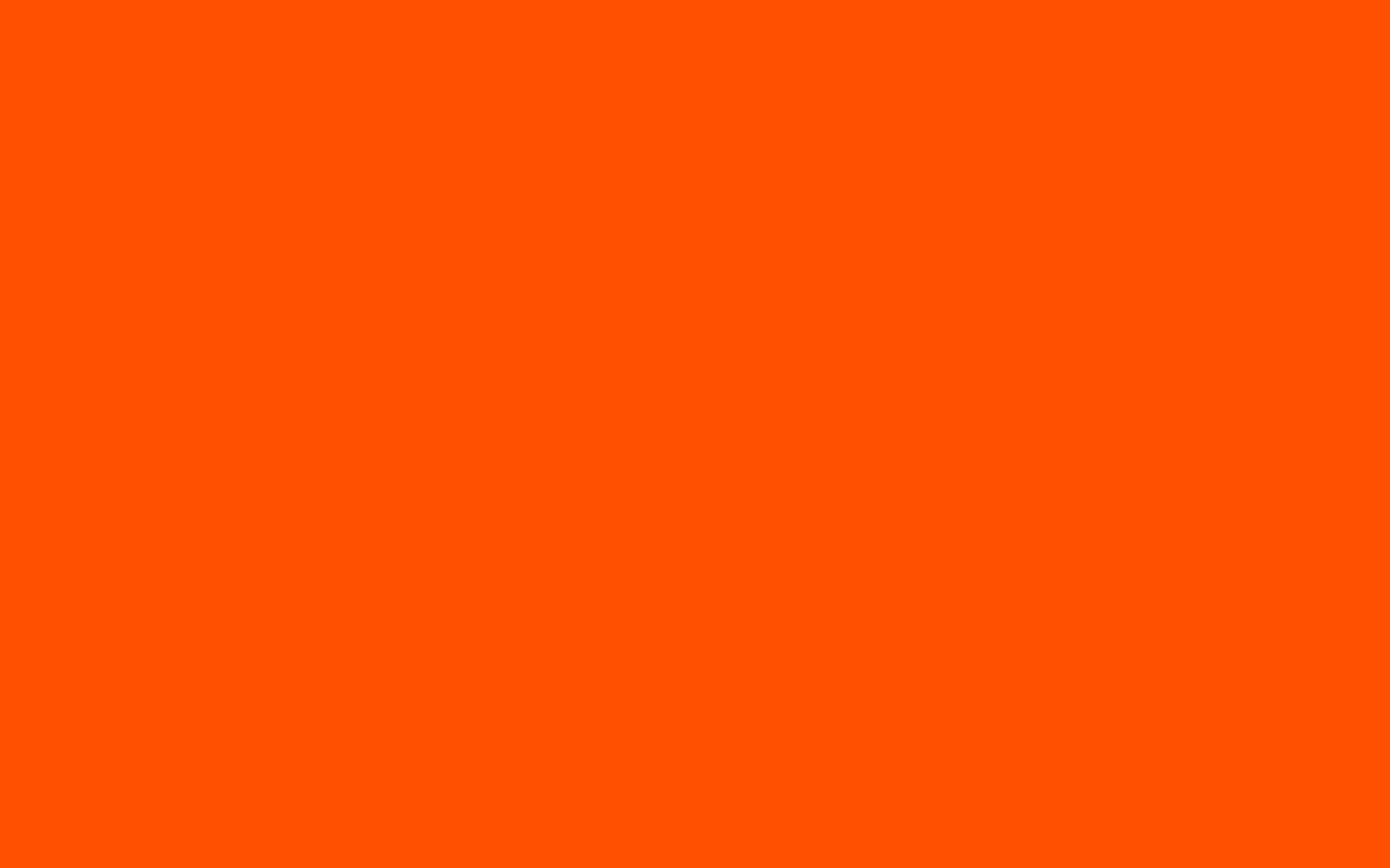 1280x800 International Orange Aerospace Solid Color Background