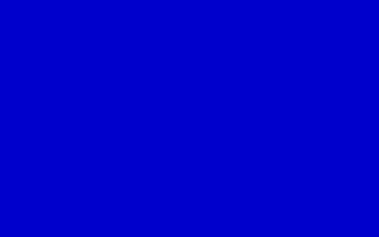 1280x800 Medium Blue Solid Color Background